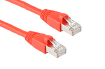 CAT6A Shielded Ethernet Patch Cable, Booted, 7ft, Red