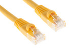 CAT6A Ethernet Patch Cable, Booted, 10ft, Yellow