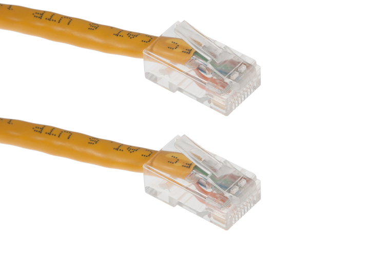 25ft Yellow Non-Booted CAT6 Ethernet Patch Cable