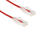 7ft Red Cat6 Slim Ethernet Patch Cable, Snagless