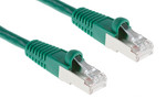 CAT6 Shielded Ethernet Patch Cable, Booted, 15ft, Green