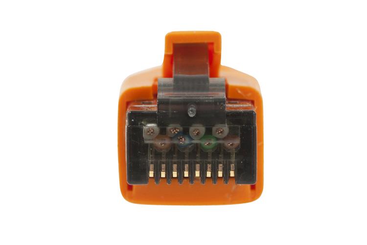 35ft Orange Shielded Cat8 Ethernet Cables Snagless