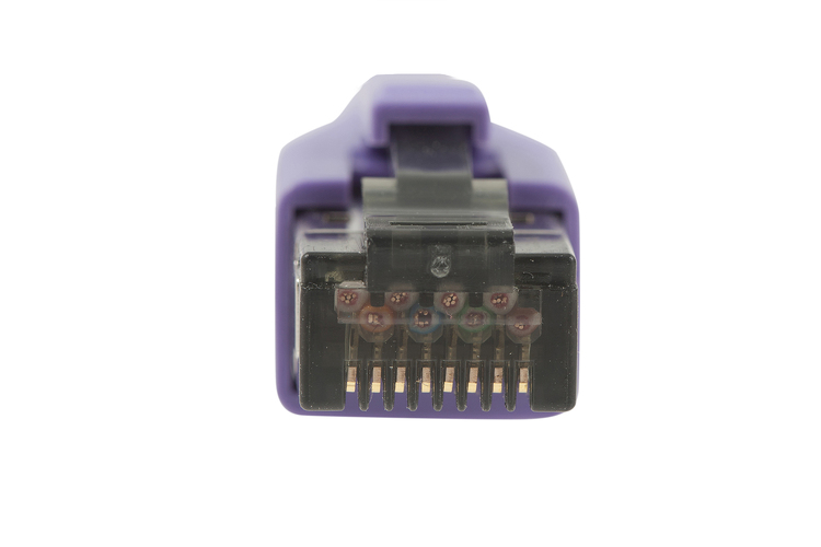 10ft Purple Shielded Cat8 Ethernet Cables Snagless