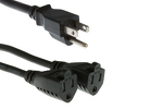 Cables Unlimited Outlet Xtender Power Cord Splitter, 1ft