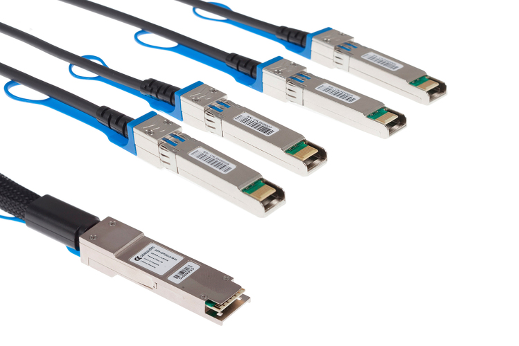Cisco Compatible 100G QSFP to 4xSFP25G Direct Attach Cable (DAC) Splitter Cable, QSFP-4SFP25G-CU1M