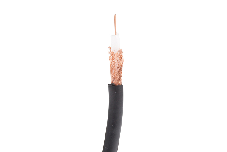 RG59/U Coax Cable, 95% BC Braid, 1000', Black