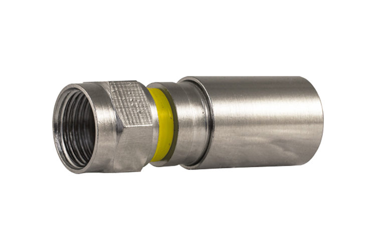 RG6 Compression Type Connector | Quad Shield - Qty 10
