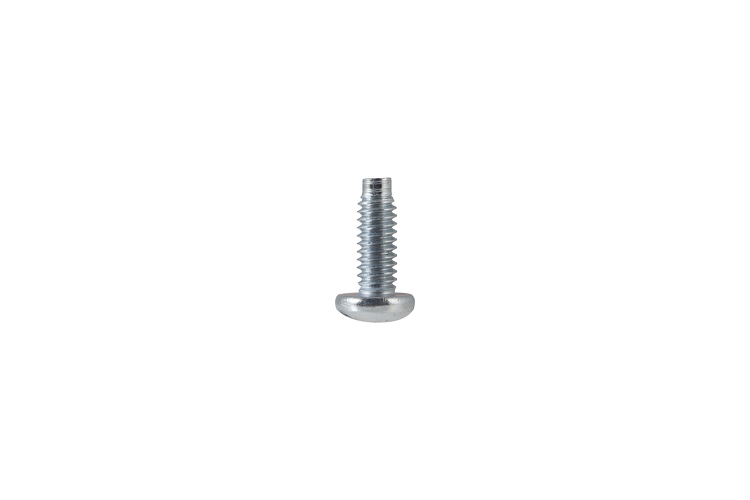 Premium Rack Mount Screws, 12-24 Thread, Phillips Head, Zinc Finish - Qty 100