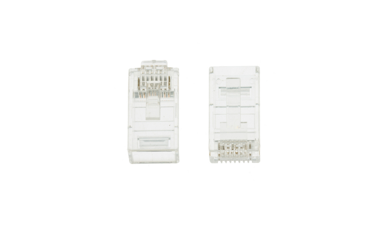 RJ45 Cat6 Modular Plugs/Connectors For Stranded Wire- Qty 2