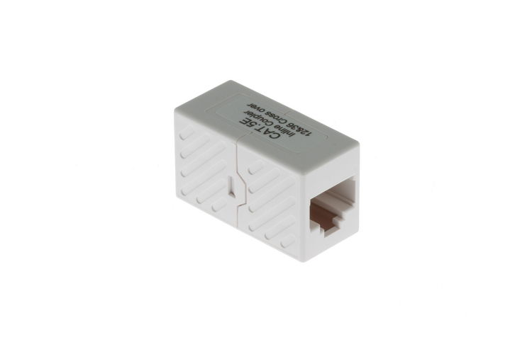 RJ45 Cat5e Crossover Inline Coupler for Crossover Connections