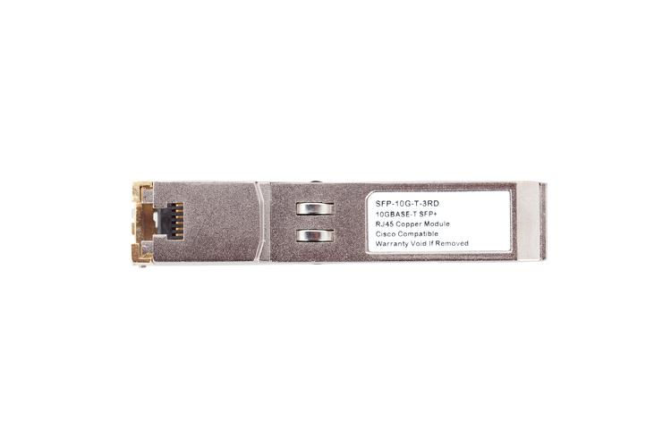 Cisco Compatible 10GBase-T SFP+ Module RJ45 Connector, SFP-10G-T