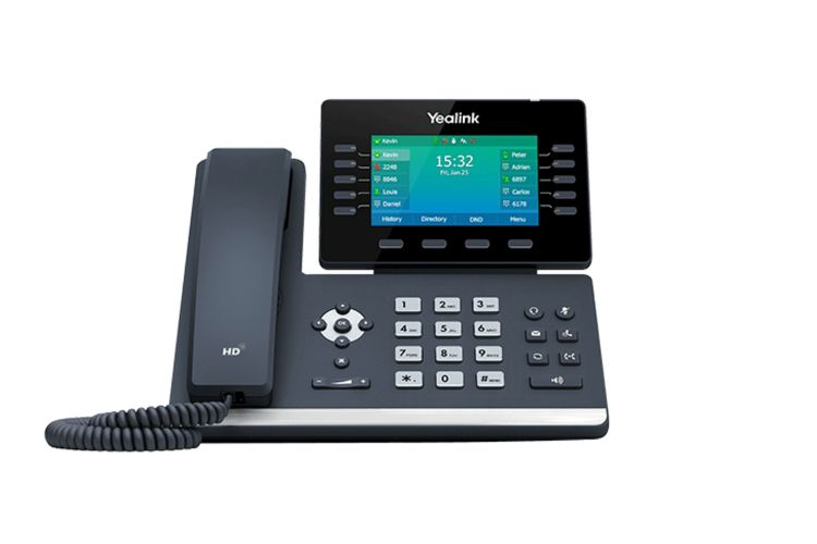 Yealink SIP-T54W Prime Business IP Phone w/Bluetooth & Wifi, 4.3-Inch Color Display