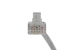 CAT6A Slim Snagless Booted Ethernet Patch Cable, Booted, 1', Gray