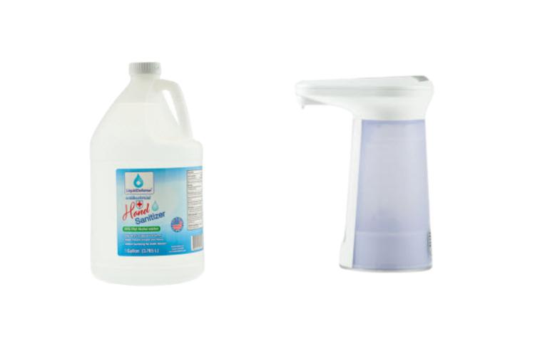 Safety Supplies Bundle, Desktop Dispenser, 1L Hand Sanitizer