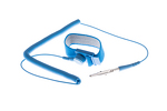 Anti Static Wrist Strap with Coiled Grounding Wire, Blue