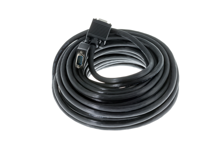 SVGA Male to Male Cable, Black, 50'