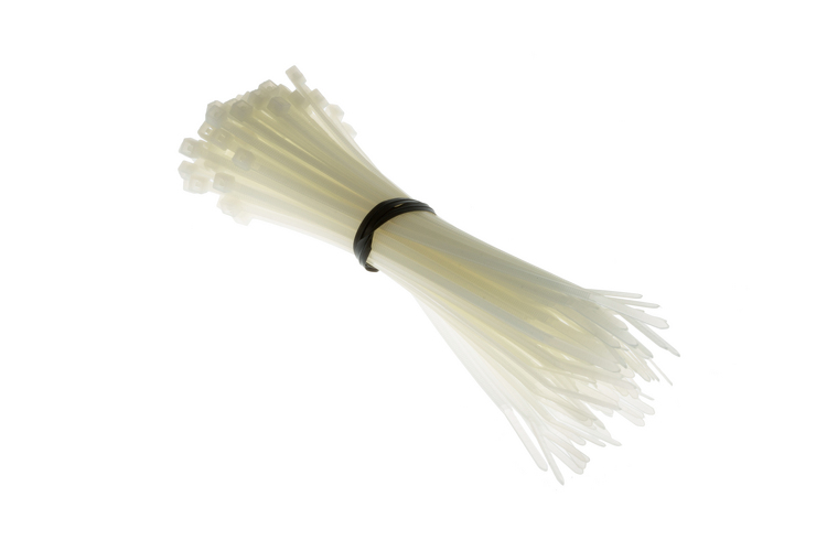 "5.5"" Nylon Cable Ties, White (Qty 100)"