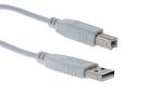 Cables Unlimited USB 2.0 A to B Cable, White, 2M