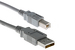Cables Unlimited USB 2.0 A to B Cable, Grey, 5M