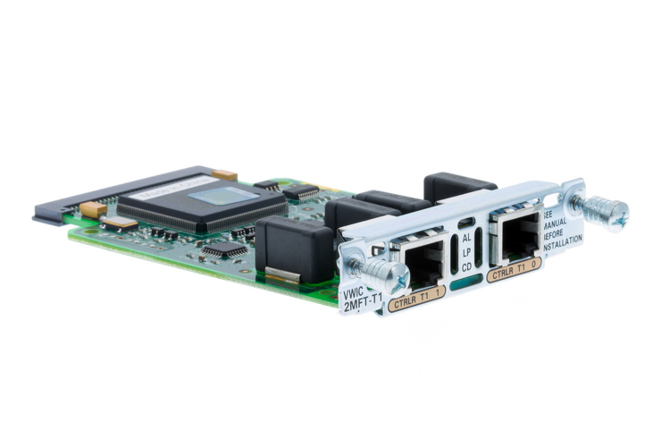 Cisco 2-Port RJ-48 Multi-Flex T1 Trunk Card, VWIC-2MFT-T1
