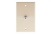 Cable Wall Plate, 1 Port, Beige / Ivory
