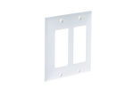 Decorative GFCI Wall Plate, 2 Port, White