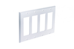 Decorative GFCI Wall Plate, 4 Port, White