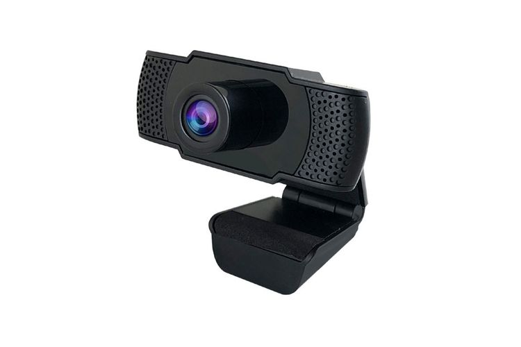 Webcam 1080p Full-HD Streaming with Noise Reduction Microphone, 90 Degree Wide View Angle, USB Plug & Play