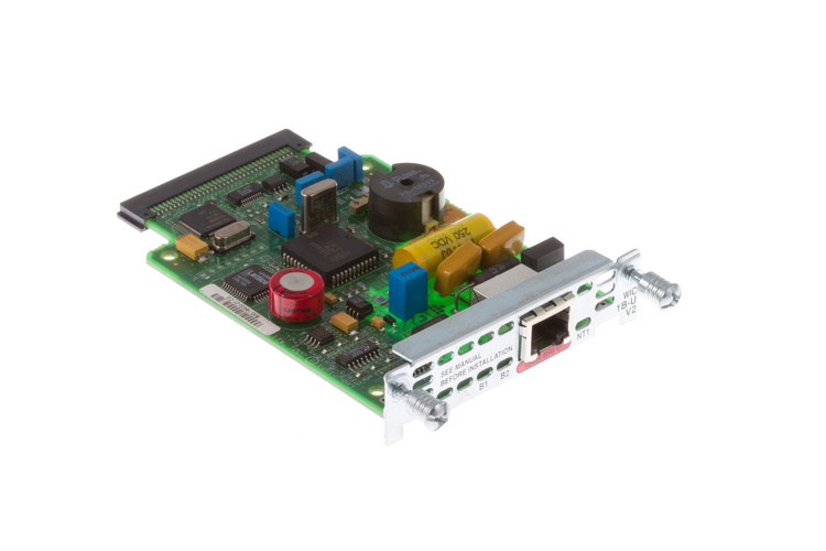 Cisco 1-Port ISDN BRI WAN Interface Card, WIC-1B-U-V2, NEW