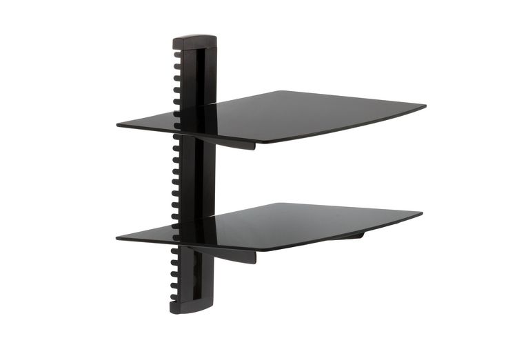 Adjustable Wall Mount Glass Shelves 17lbs Capacity
