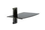 Adjustable Wall Mount Glass Shelf 17lbs Capacity