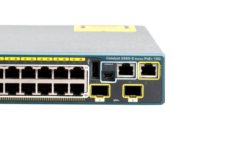 Cisco 2960S 48 Port Gigabit PoE+ Switch, WS-C2960S-48FPD-L