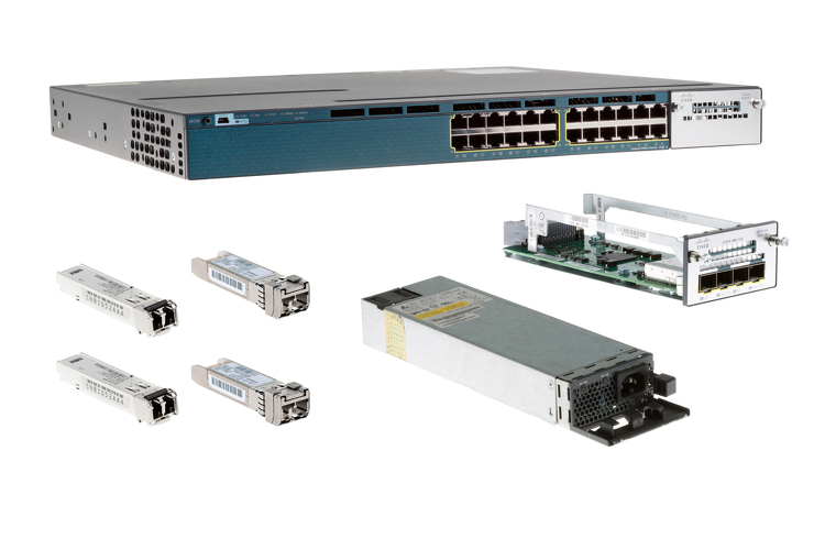 Cisco 3560X Series Deployment Pack, 10G, 24 Port, WS-C3560X-24P-S-DP10G