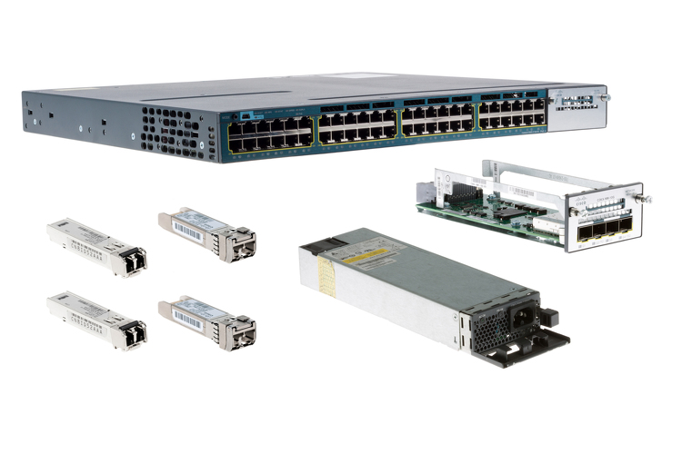 Cisco 3560X Series Deployment Pack, 10G, 48 Port, C3KX-NM-10G