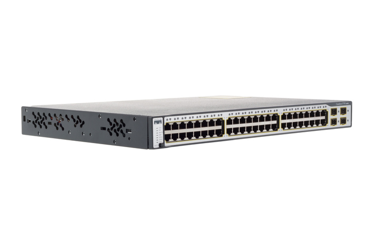 Cisco Catalyst 3750 48 Port Switch, WS-C3750-48TS-S