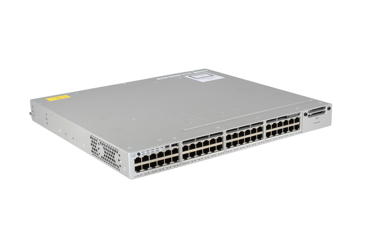 Cisco 3850 Series PoE+ 48 Port Switch, IP Base, WS-C3850-48P-S, NEW