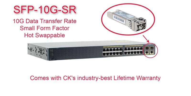 Cisco Original 10GBase-SR SFP+ Module, SFP-10G-SR